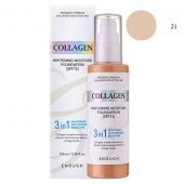 Enough Тональная основа 3 в 1 Collagen Whitening Moisture 3in1 Foundation тон 21 SPF15 100 мл