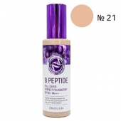 Enough Тональная основа 8 Peptide Full Cover Perfect Foundation тон 21 SPF50+ PA+++ 100 мл