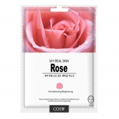 COS.W Тканевая маска My Real Skin Rose Facial Mask 23 мл