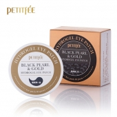 Petitfee Гидрогелевые антивозрастные патчи Black Pearl & Gold Hydrogel Eye Patch 60 шт