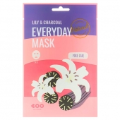 DEARBOO Маска тканевая EVERYDAY MASK Lily Charcoal 27 мл