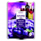 Deoproce Тканевая маска Color Synergy Effect Mask Sheet Purple 20 г