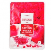 DP Маска тканевая Deoproce Color Synergy Effect Mask Sheet Red 20г