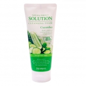 Deoproce Пенка для умывания Natural Perfect Solution Cleansing Foam Cucumber 170 мл