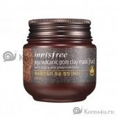 Очищающая маска Jeju volcanic pore clay mask Innisfree (hard)