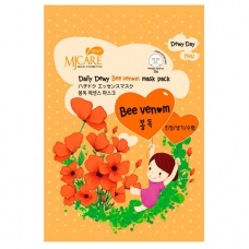 Листовая маска с пчелиным ядом MJ Care Daily Dewy Bee Venom Mask Pack
