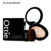 Ottie Румяна Aurora Marble Blusher #03 Glam Brown