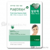 Маска лифтинг эффект Purederm Aloe Essence Mask