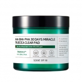 SOME BY MI Пилинг-пэды для лица AHA, BHA, PHA 30 Days Miracle Truecica Clear Pad 70 шт