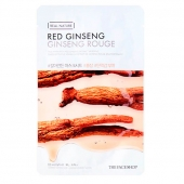 TFS Тканевая маска с экстрактом женьшеня The Face Shop Real Nature Red Ginseng Face Mask 20 г