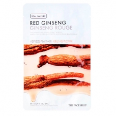 Маска с экстрактом женьшеня The Face Shop Real Nature Red Ginseng Face Mask 20 г