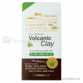 Патч для носа The Face Shop Volcanic Clay Black Head Aloe Nose Strip
