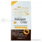 Патч для носа The Face Shop Volcanic Clay Black Head Charcoal Nose Strip