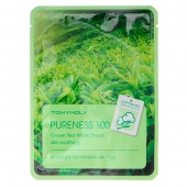 Tony Moly Тканевая маска Pureness100 Green Tea Mask Sheet 21 г