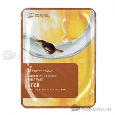 Маска с экстрактом улитки Tony Moly Natural Pulp Essence Sheet Mask snail